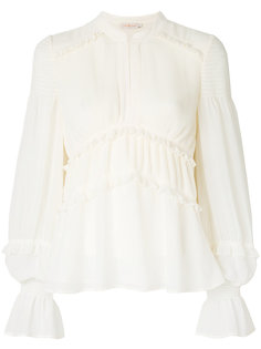 ribbed tiered blouse Tory Burch