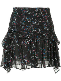 многослойная юбка с цветочным принтом  Tanya Taylor