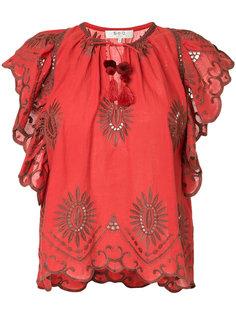 блузка с вышивкой и вырезными деталями Sea