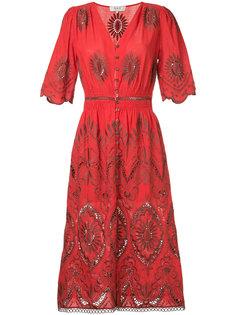 платье с вырезными деталями и вышивкой Sea