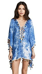 Bindya Tie Dye Modal Lace Up Tunic