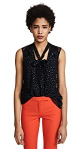 Coach 1941 Star Sleeveless T Neck Blouse