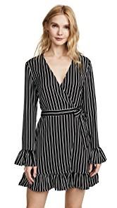 The Fifth Label Ophelia Stripe Wrap Dress