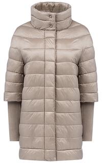 Куртка на синтепоне с трикотажными рукавами Compagnia Italiana