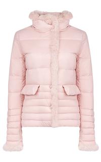 Куртка на натуральном пуху с отделкой мехом кролика Malinardi