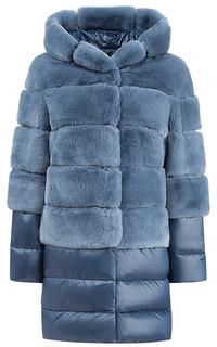Утепленная шуба из кролика со съемными деталями Virtuale Fur Collection