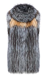 Жилет из меха чернобурки Virtuale Fur Collection