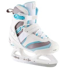 Женские Фитнес-коньки Белого/голубого Цвета Fit 3 Oxelo