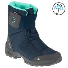Высокие Ботинки Для Зимних Походов Женские Sh300, Теплые И Водонепр., Цвет Синий Quechua