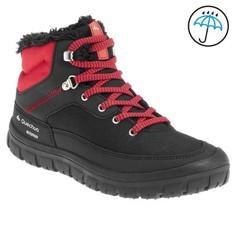 Дет. Ботинки Для Зимнего Трекинга Sh100 На Шнурках:теплые, Непромокаемые, Кр.цв. Quechua