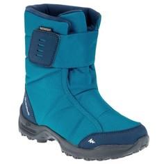 Сапоги Для Зимних Прогулок Детские Sh500, Теплые И Водонепроницаемые, Цвет Синий Quechua