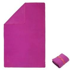Ультракомпактное Полотенце Из Микрофибры, Размер L 80 X 130 См - Фиолетовое Nabaiji