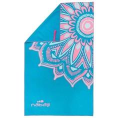Ультракомпактное Полотенце Из Микрофибры, Размер L 80 X 130 См - Голубое/розовое Nabaiji
