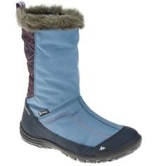 Сапоги Для Зимних Прогулок Детские Sh900, Теплые И Водонепр., Цвет Голубой Quechua