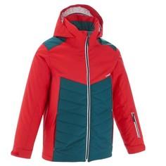 Горнолыжная Куртка 300 Для Мальчиков Цвет: Красный Зеленовато-синий Wedze