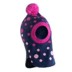 Шапка-шлем С Помпоном Pink Для Детей No Brand