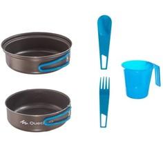 Походный Набор Алюминиевой Посуды С А/пригарным Покрытием На 1 Человека (0,8 Л) Quechua