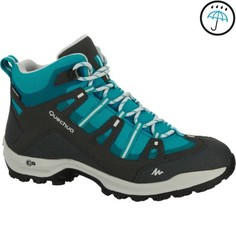 Женские Водонепроницаемые Ботинки Для Пеших Прогулок Arpenaz 100 Mid - Синие Quechua