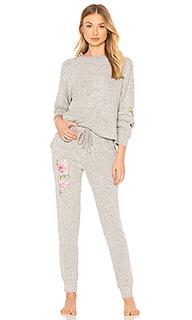 Трикотажная пижама с вышивкой skylar - Flora Nikrooz