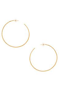 Серьги-кольца classico grande - Natalie B Jewelry