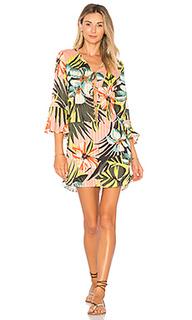 Мини-платье с цветочным рисунком - Salinas