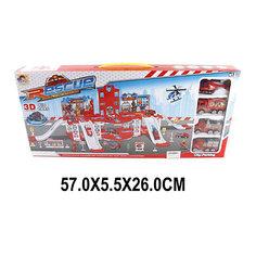 """Парковка Shantou Gepai """"Пожарная служба"""" 2 уровня + 3 машины и вертолет"""