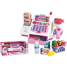 Касса Shantou Gepai со сканером, микрофоном и продуктами
