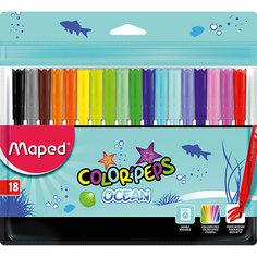 Фломастеры COLORPEPS OCEAN, 18 цветов, Maped