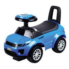 Машина-каталка Bugati с музыкой и светом, синяя