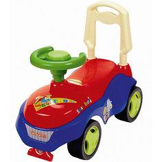 Машина-каталка Bugati с сигналом-пищалкой, красно-синяя