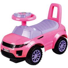 Машина-каталка Bugati с музыкой и светом, розовая