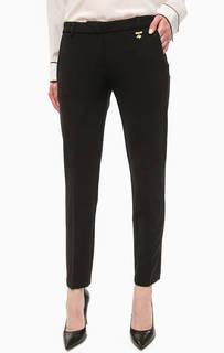 Черные трикотажные брюки Pois