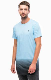 Синяя хлопковая футболка с короткими рукавами Religion
