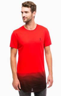 Красная хлопковая футболка с короткими рукавами Religion