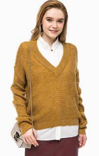Коричневый трикотажный свитер Blend She