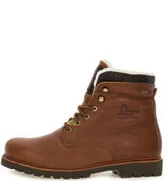 Высокие кожаные ботинки на шнуровке Panama Jack