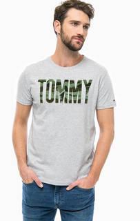 Хлопковая футболка с короткими рукавами Hilfiger Denim
