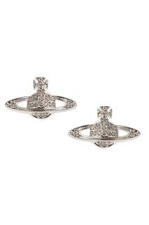 Серебристые серьги-эмблемы Vivienne Westwood