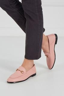 Розовые лоферы из кожи Gucci