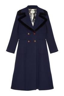 Шерстяное двубортное пальто Gucci