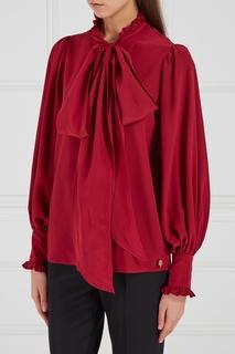 Бордовая блузка с бантом Akhmadullina Dreams