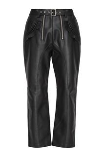 Черные брюки из эко-кожи Self Portrait