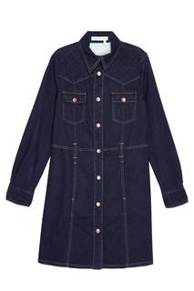 Джинсовое платье-рубашка See By Chloé