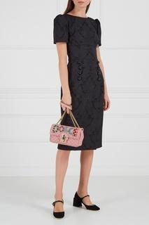 Замшевые туфли с блестящей пряжкой Dolce & Gabbana