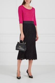 Черные кружевные туфли Dolce & Gabbana