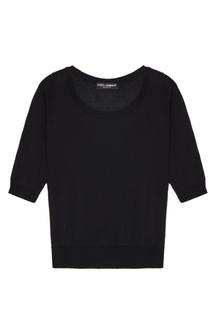 Черный кашемировый джемпер Dolce & Gabbana