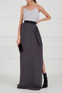 Серая юбка-макси Makoday