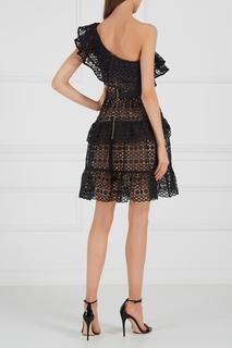 Кружевное платье на одно плечо Self Portrait