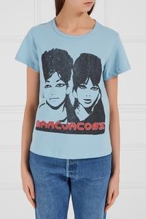 Хлопковая футболка с принтом и логотипом Marc Jacobs