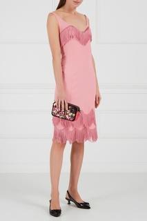 Розовое платье с бахромой Marc Jacobs